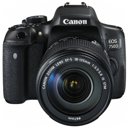 Canon EOS 750D + EF-S 18-135 mm f/3.5-5.6 IS STM - cashback 215,00
