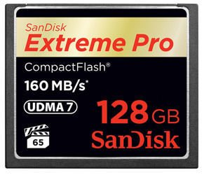 SanDisk CompactFlash Extreme Pro 128GB 160Mb/s