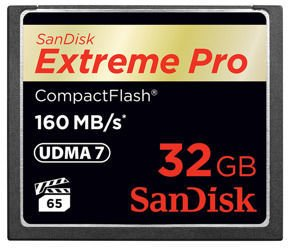 SanDisk CompactFlash Extreme Pro 32GB 160Mb/s