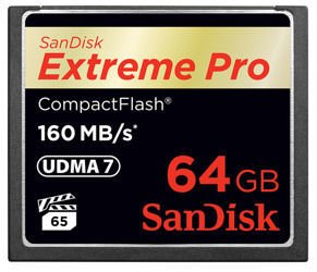 SanDisk CompactFlash Extreme Pro 64GB 160Mb/s