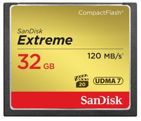 SanDisk Extreme CompactFlash (120 MB/s) 32GB