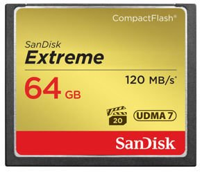 SanDisk Extreme CompactFlash (120 MB/s) 64GB