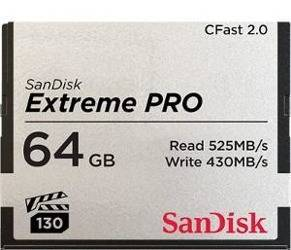 Sandisk Extreme PRO CFAST 2.0 64 GB 525MB/s VPG130