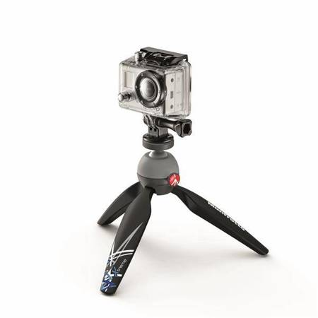 Manfrotto PIXI Xtreme z adapterem GoPro