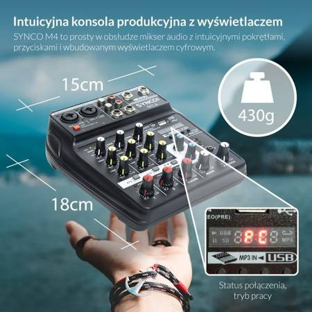 Synco MC4 mikser audio 4 kanałowy